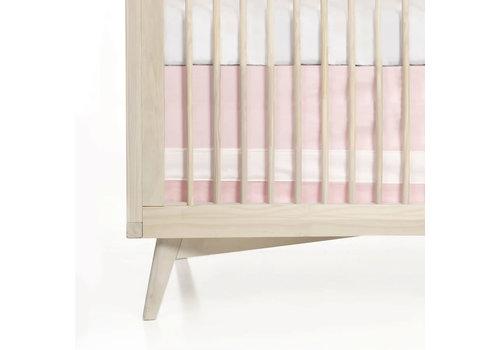 Oilo Oilo Crib Skirt In Solid Pink (Blush)