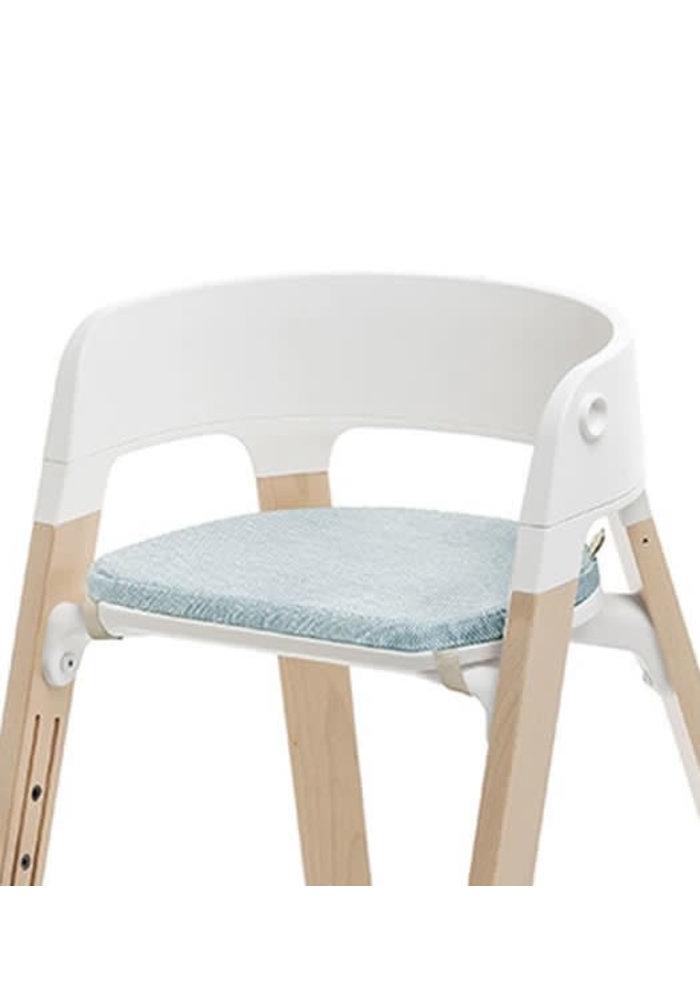 Stokke Steps Chair Cushion In Jade Twill