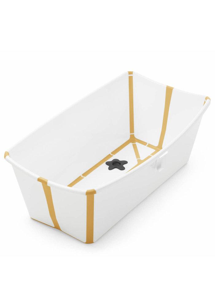 Stokke Flexi Bath In White Yellow