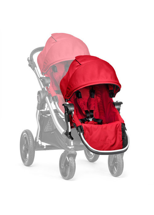 Baby Jogger 2018 Baby Jogger City Select Second Seat Kit In Ruby- Silver Frame