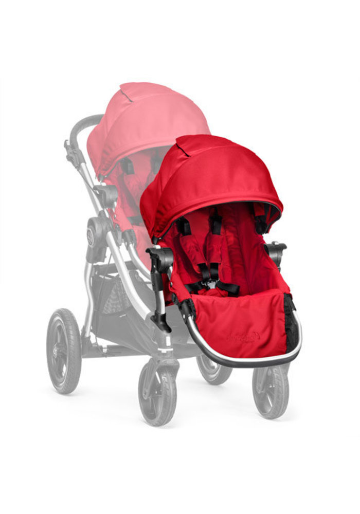 2018 Baby Jogger City Select Second Seat Kit In Ruby- Silver Frame