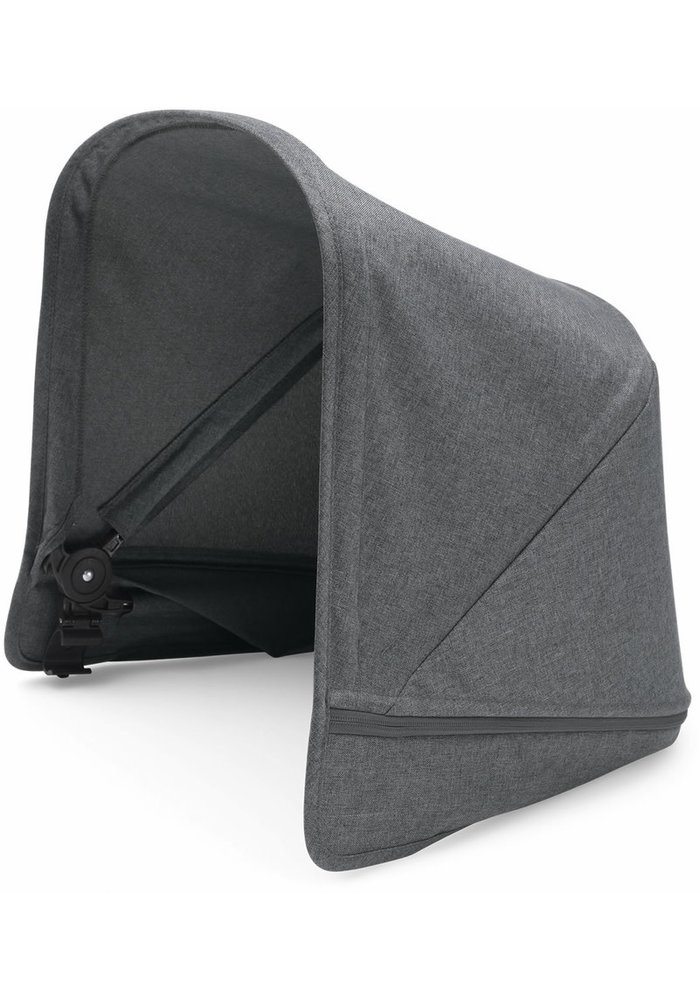 CLOSEOUT!! Bugaboo Donkey2 Extendable Sun Canopy In Grey Melange  (BOX 3)