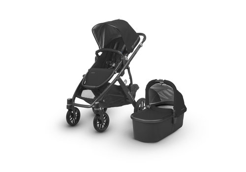 UppaBaby CLOSEOUT!! Uppa Baby Vista Stroller In Jake (Black/Carbon/Black Leather)