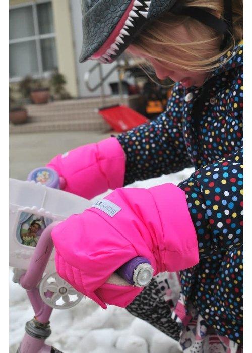 7 AM FINAL SALE 7 A.M. Enfant Warmmuffs Fleece Lined In Candy