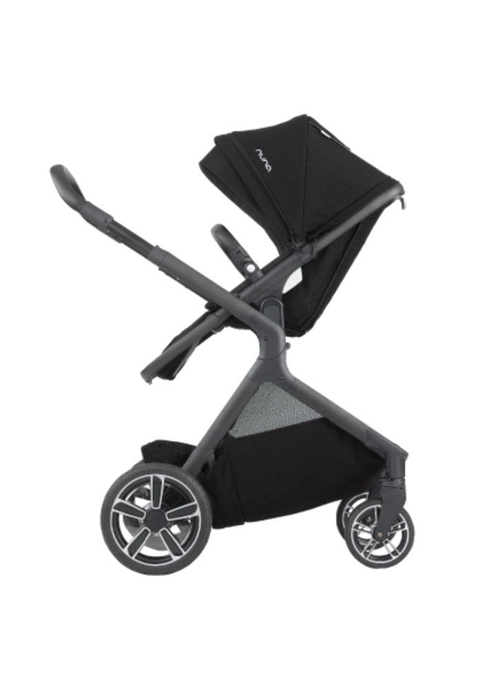 Nuna Demi Grow Stroller In Caviar With Ring Adapter , Rain Cover, Fenders