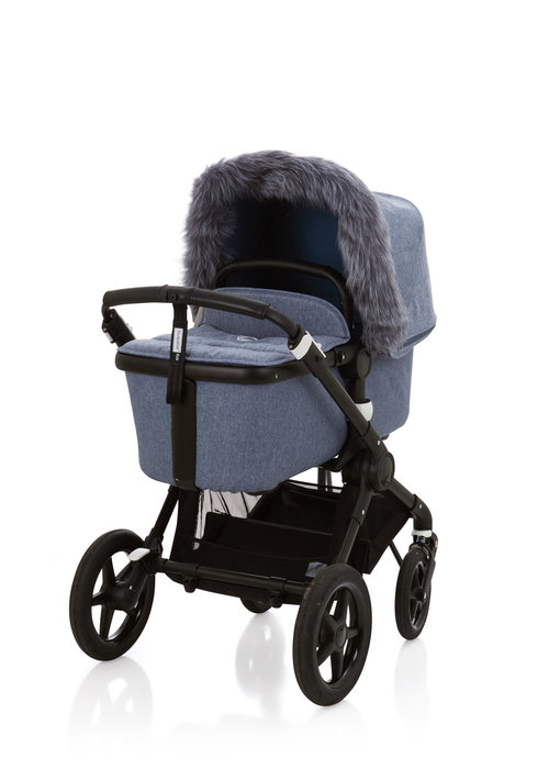 Baby Frr Baby Frr Fur For Stroller In Blue Melange (Silver Fox)