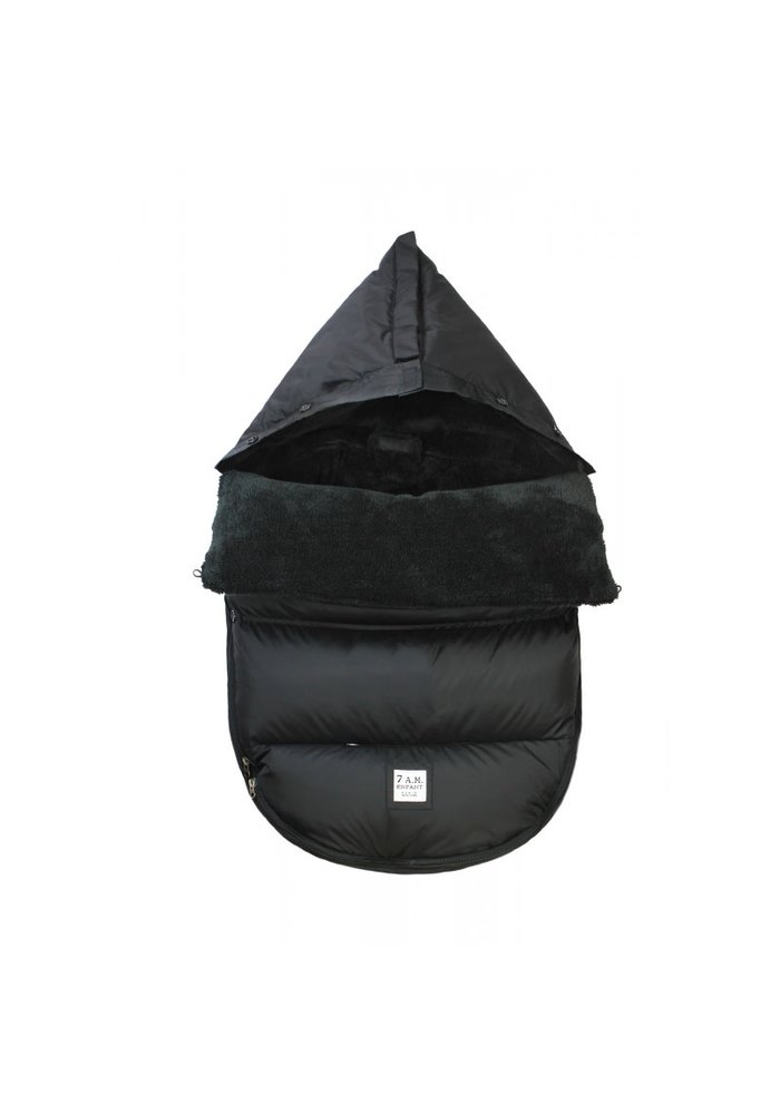 7 A.M. Plush Pod Black Plush In Small/Medium 0-18 Months