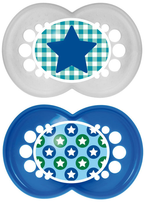 Mam Mam Trends Silicone Pacifier 2-Pack (Assorted) - 6 + Months