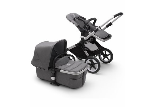 Bugaboo Bugaboo Fox2 Complete Stroller - Aluminum/Grey Melange/Grey Melange