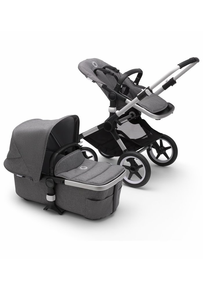 Bugaboo Fox2 Complete Stroller - Aluminum/Grey Melange/Grey Melange