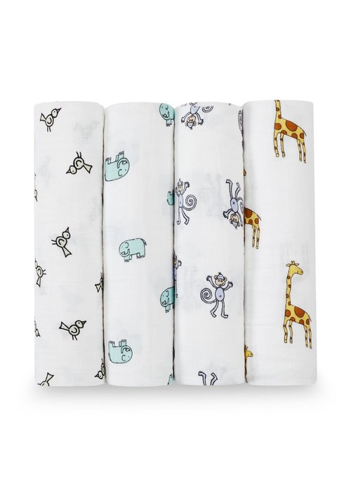 aden + anais aden + anais Jungle Jam Classic Swaddles (4 Pack)