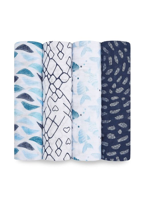 aden + anais aden + anais Gone Fishing Classic Swaddles (4 Pack)
