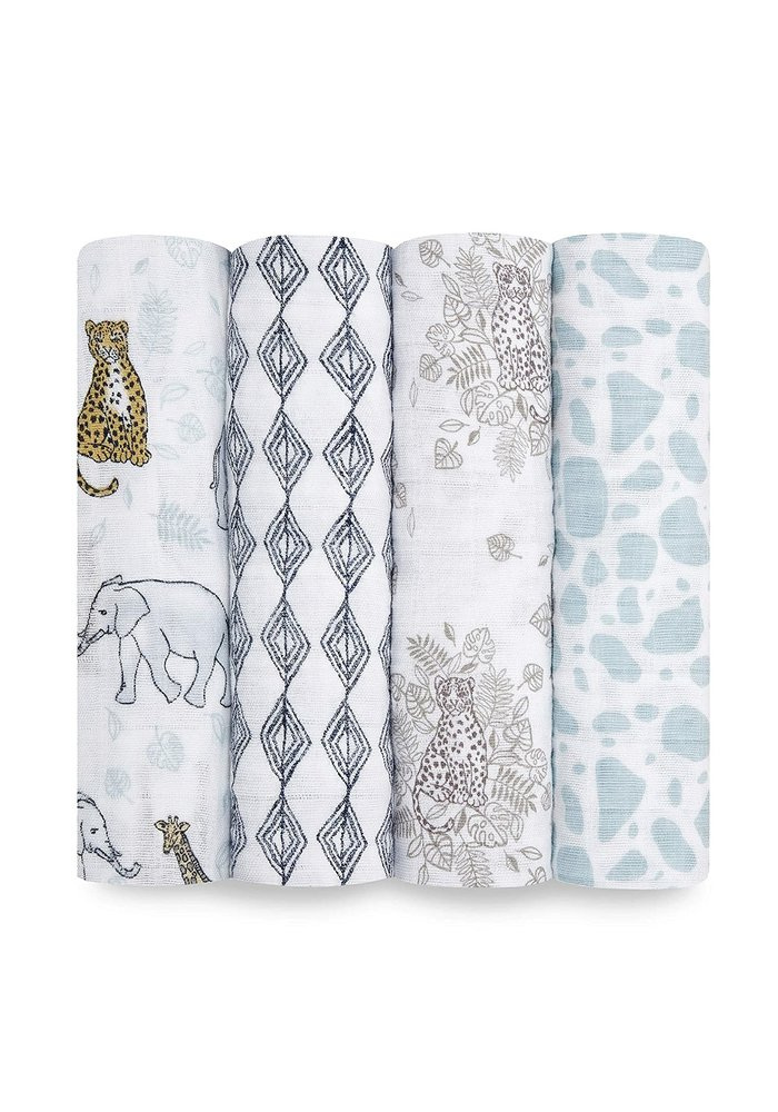 aden + anais Jungle Classic Swaddles (4 Pack)