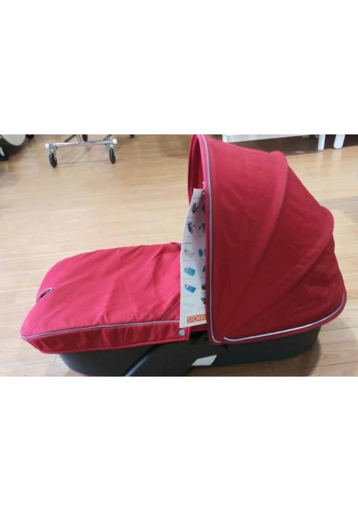 CLOSEOUT!! 2010 Stokke Xplory Carrycot With Textile Set In Red