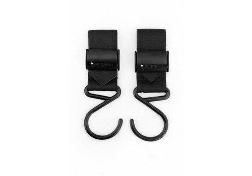 Buggy Gear Buggy Gear Boutique Stroller Hooks (Set Of 2) In Matte Black