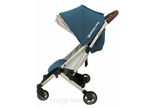 UppaBaby Uppababy Minu Stroller In RYAN (Teal Mélange/Silver/Saddle Leather)