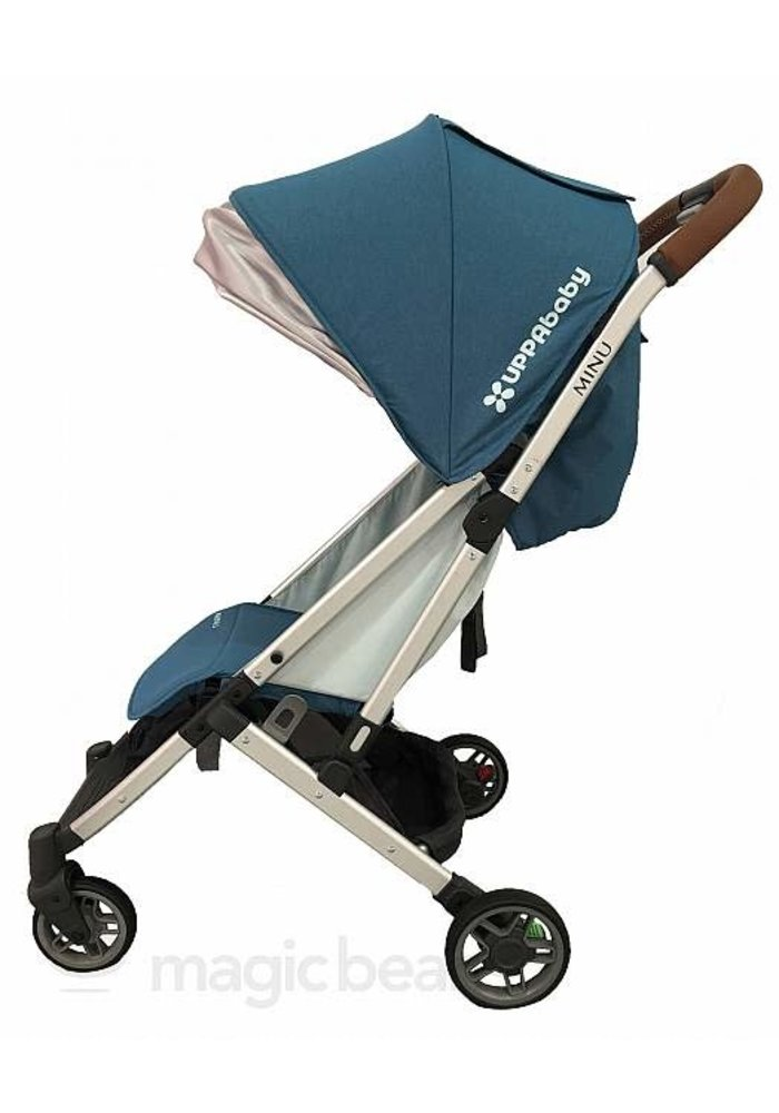 Uppababy Minu Stroller In RYAN (Teal Mélange/Silver/Saddle Leather)