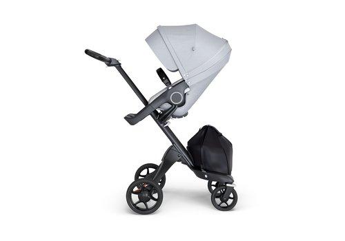 Stokke Stokke Xplory Black Chassis -Stroller Seat Grey Melange and Black Handle