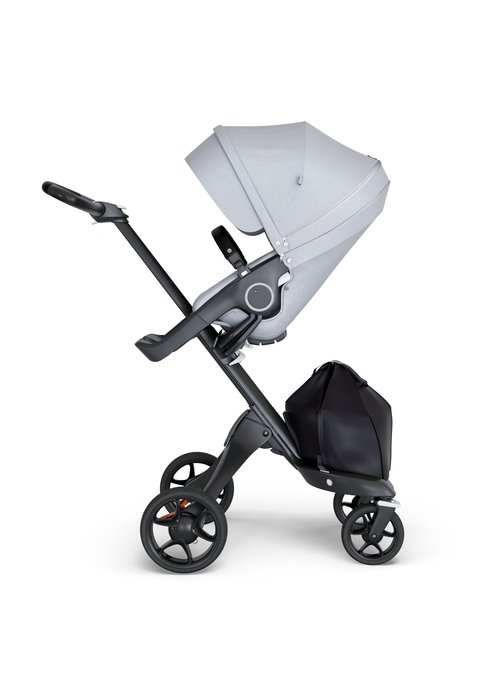 Stokke Stokke Xplory Black Chassis -Stroller Seat Grey Melange and Black Handle