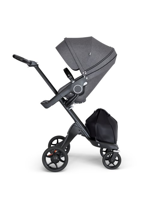 Stokke Stokke Xplory Black Chassis -Stroller Seat Black Melange and Black Handle