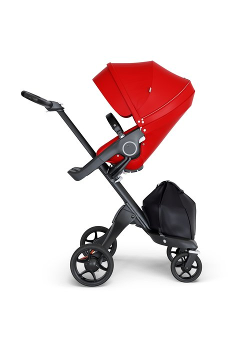Stokke Stokke Xplory Black Chassis -Stroller Seat Red and Black Handle