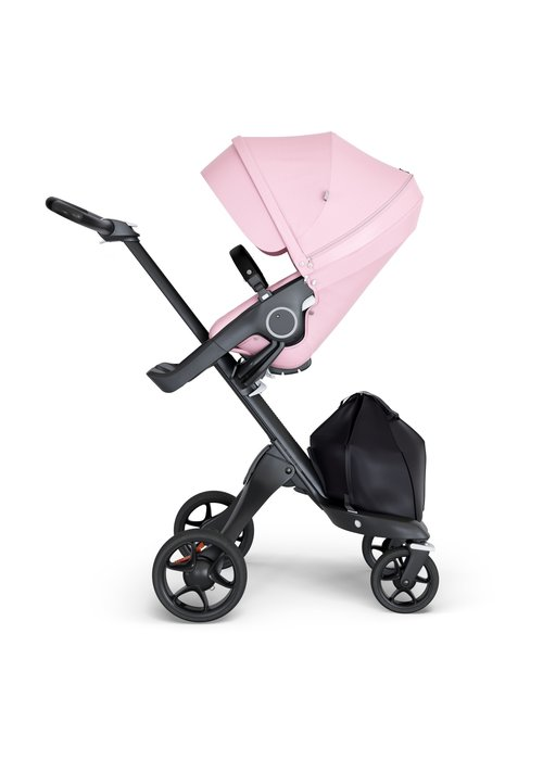 Stokke Stokke Xplory Black Chassis -Stroller Seat Lotus Pink and Black Handle