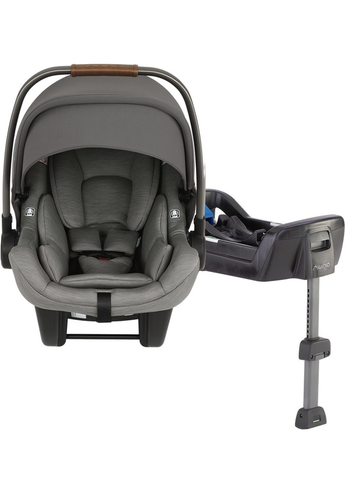 Nuna Pipa Lite Infant Car Seat In Granite With Base
