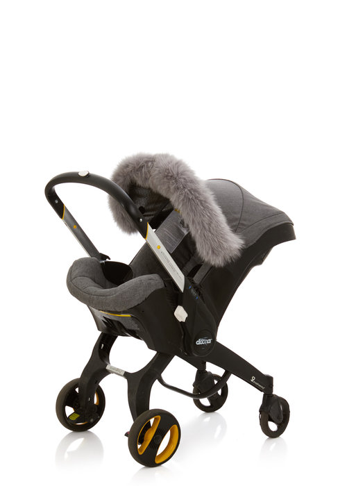 Baby Frr Baby Frr Fur For Doona In Light Grey