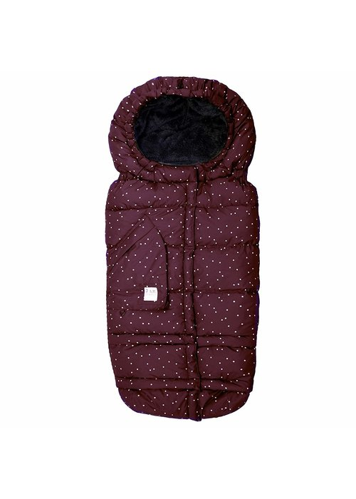 7 AM 7 A.M. Enfant Evolution 212 Blanket In Print Maroon Petit Pois- 6 Months -4 Toddler