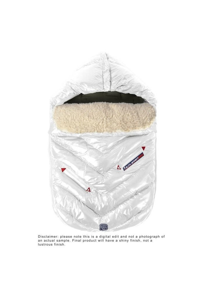 7 A.M. Enfant Polar Igloo Infant Footmuff In White - Newborn - 12 Months