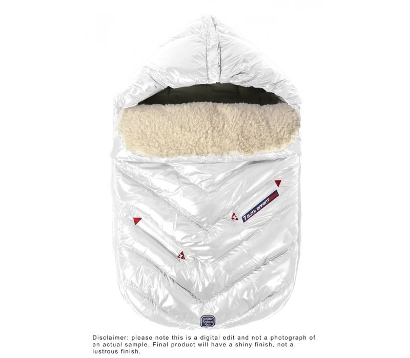 7 A.M. Enfant Polar Igloo Toddler Footmuff In White- 12 Month-2 Toddler