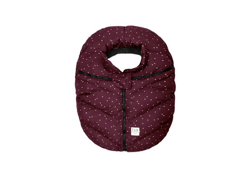 7 AM 7 A.M. Car Seat Cover - Cocoon In Print Maroon Petit Pois 0-12 Months