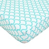 American Baby American Baby Percale Crib Sheet Aqua Sea Waves