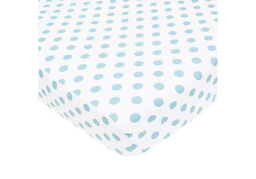 American Baby American Baby Percale Crib Sheet Large Blue Dot