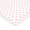 American Baby American Baby Percale Crib Sheet Large Pink Dot