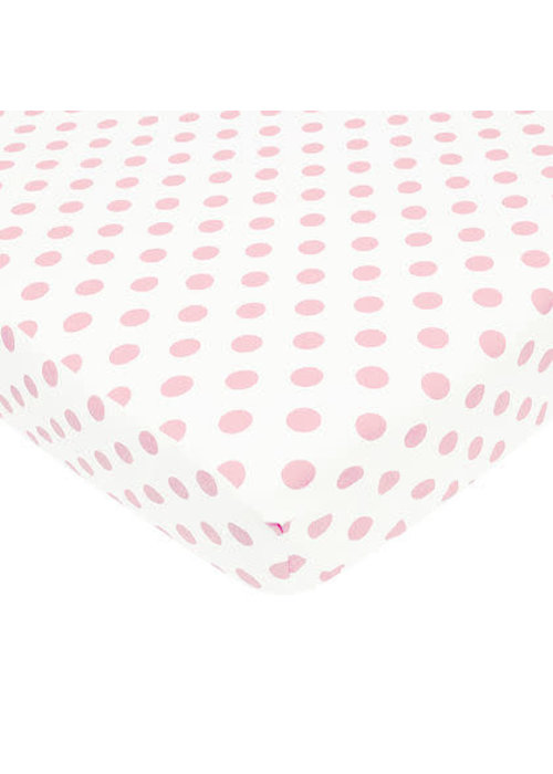 American Baby American Baby Percale Crib Sheet Large Pink Dot