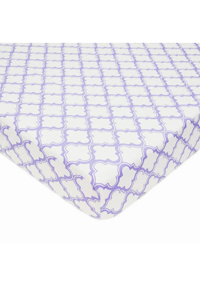 American Baby Percale Crib Sheet Lav- Moroccan