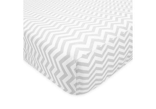 American Baby American Baby Percale Crib Sheet Grey Zigzag
