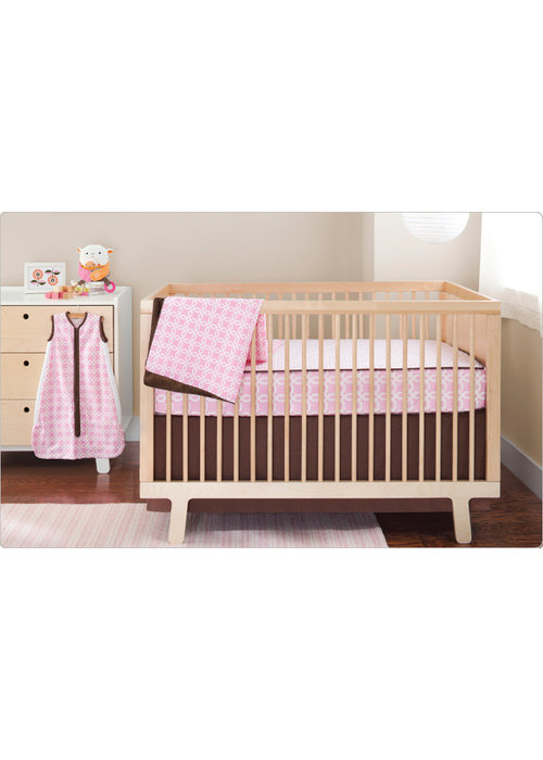 Skip Hop CLOSEOUT!!! Skip Hop Pink Lattice 4 Piece Bumper Free Bedding Set