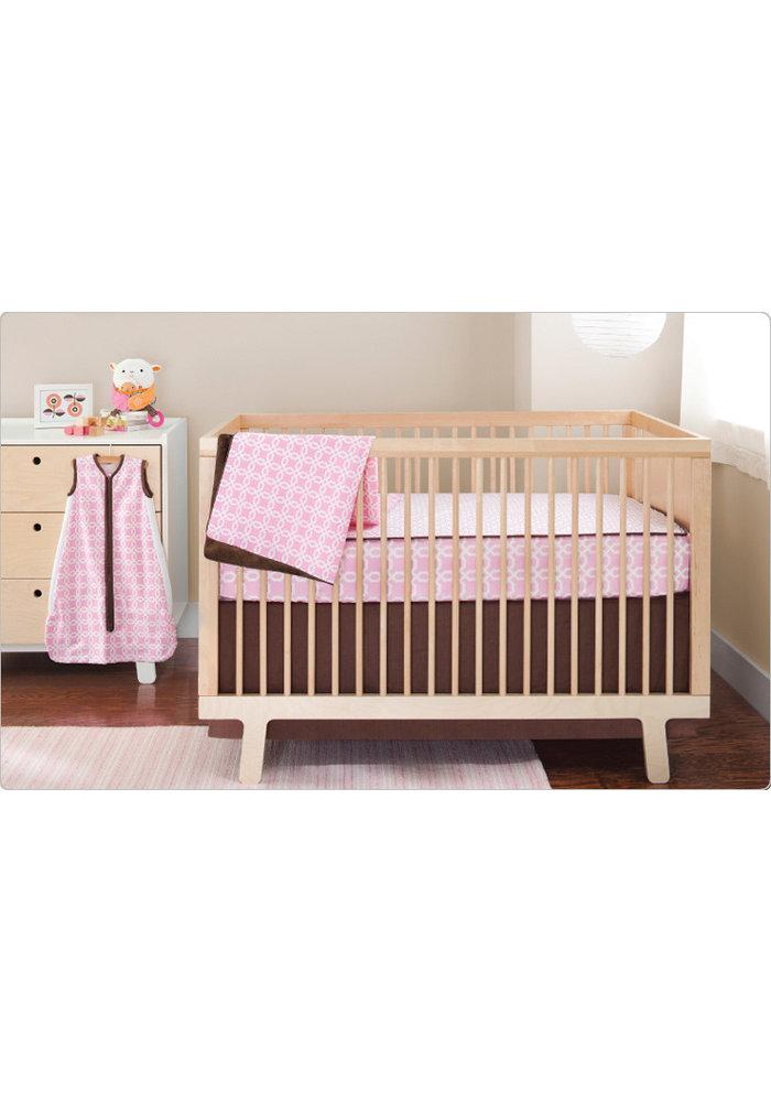 CLOSEOUT!!! Skip Hop Pink Lattice 4 Piece Bumper Free Bedding Set