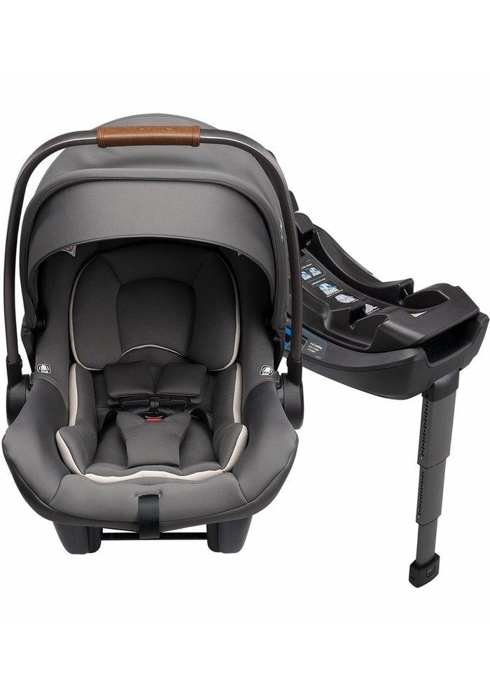 Nuna Pipa Lite R Infant Car Seat Granite With RELX Infant Base