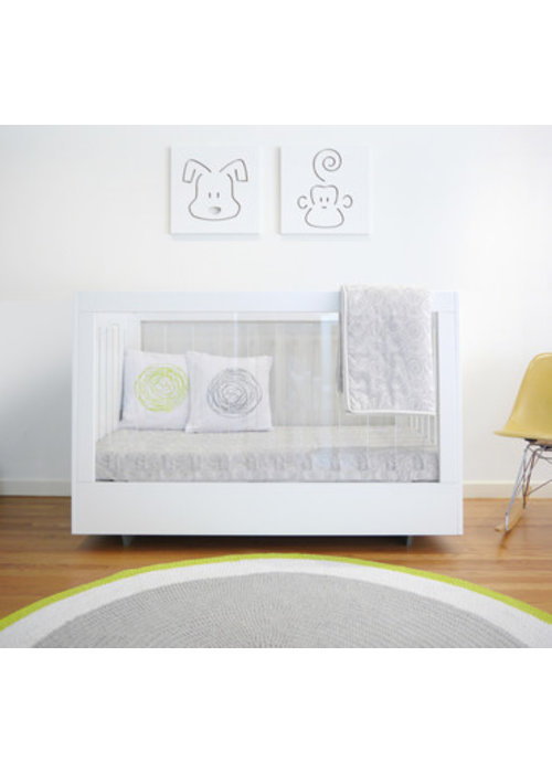 Spot On Square Spot On Square Roh Crib In White 1 Side Acrylic