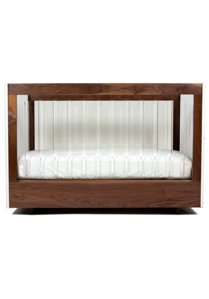 Spot On Square Roh Crib-White-Walnut - 2 Sides Acrylic