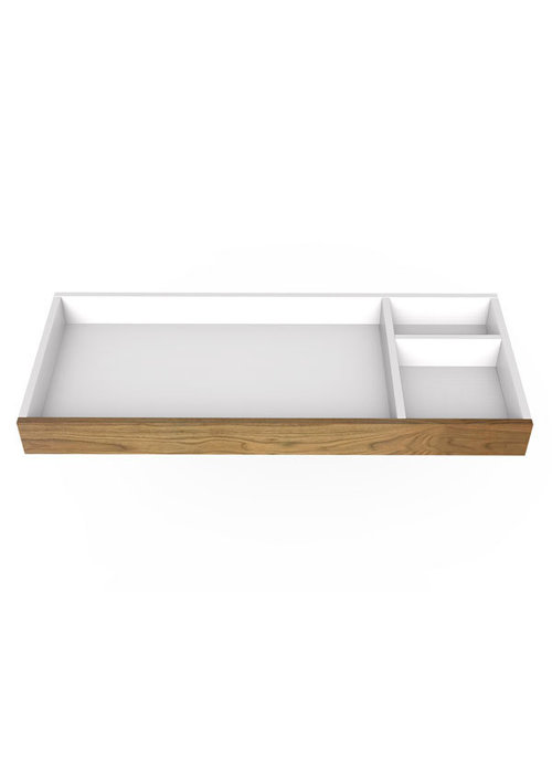 Spot On Square Spot On Square 45'' Wide Changing Tray - White/Walnut