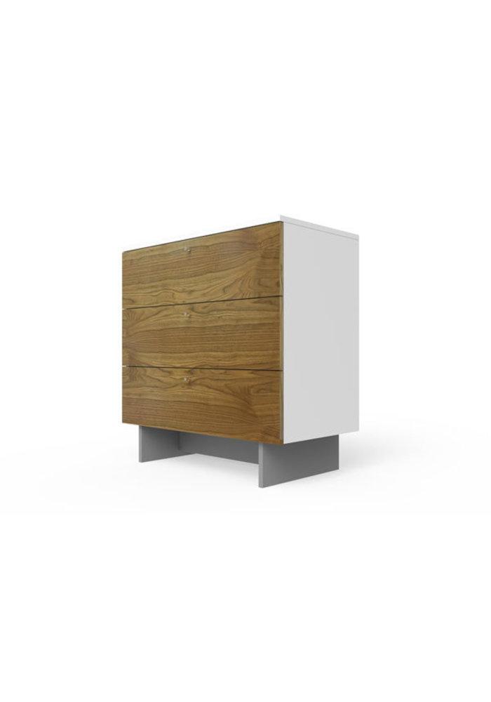 Spot On Square Roh Dresser 34'' Wide - White-Walnut