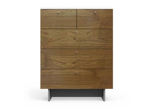 Spot On Square Spot On Square Roh 5 Drawer Dresser - White-Walnut
