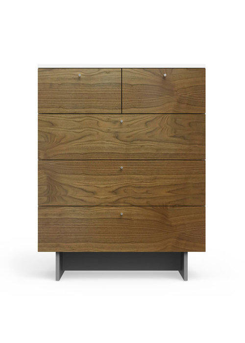 Spot On Square Spot On Square Roh 5 Drawer Dresser - White-Walnut