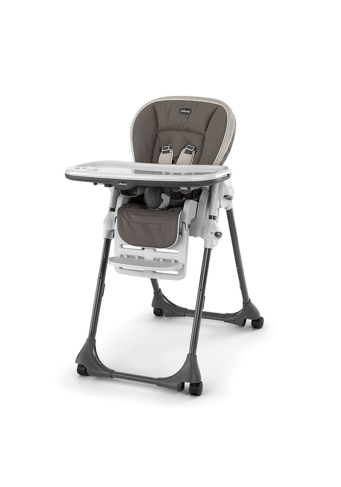Chicco Polly Vinyl Highchair In Latte