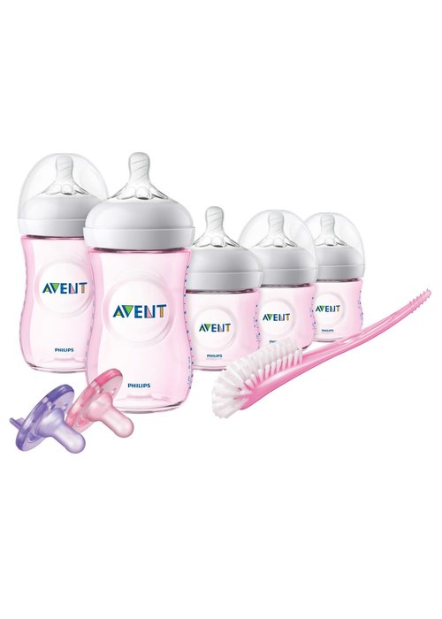 Avent Philips Avent BPA Free Natural Infant Starter Set Pink