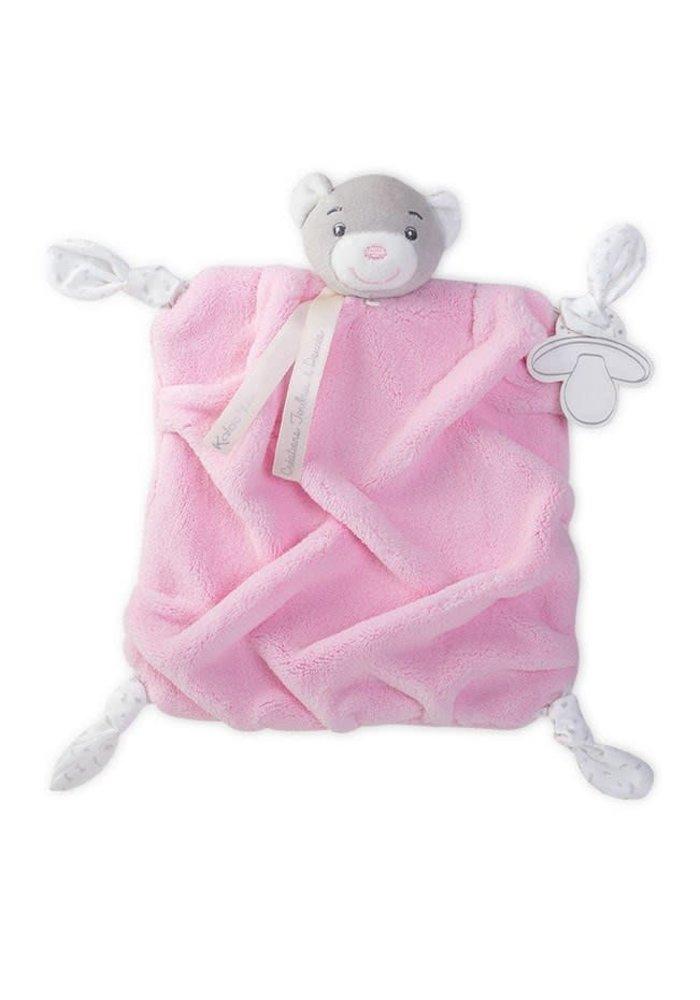 Kaloo Plume Hand Puppet DouDou Bear In Pink